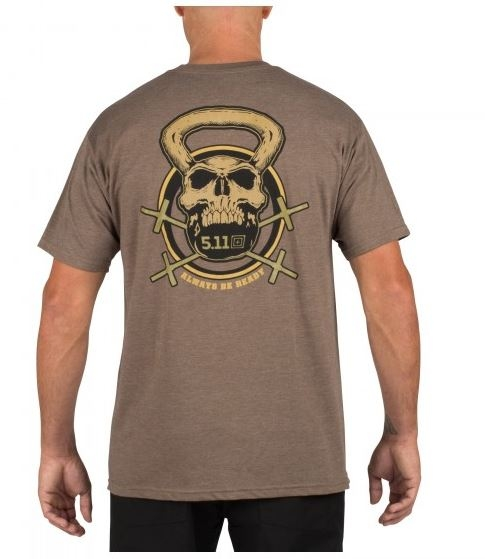 5.11 RECON Skull Kettle T-Shirt Brown