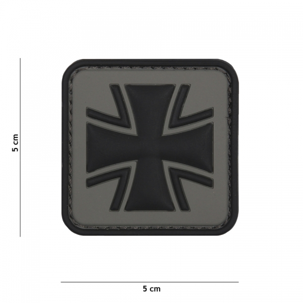 OPS Gear Patch - deutsches Kreuz grau