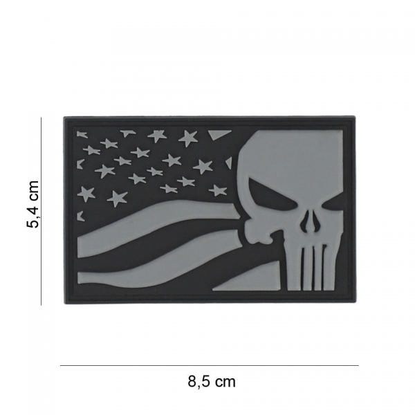 OPS Gear Patch - Punisher USA flag grey