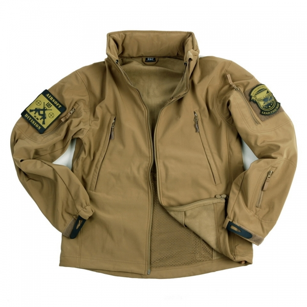 OPS Gear Soft Shell Jacke Tactical Coyote
