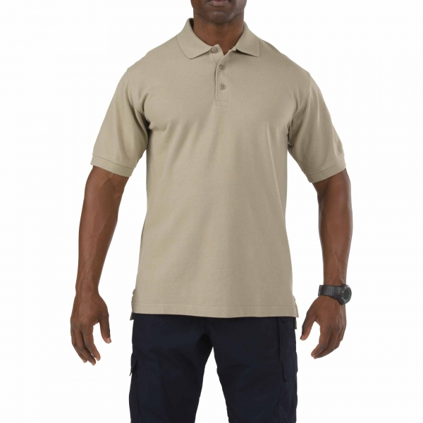 5.11 Professional Short Sleeve Polo Silver Tan