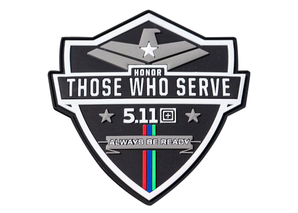 5.11 HONOR THOSE WHO SERVE PATCH - #ENERGYFORTHEFRONTLINE
