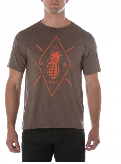 5.11 Pineapple Grenade Tee Brown Heather